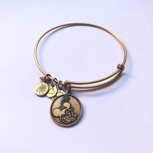 Alex and Ani Minnie Mouse Charm Bracelet - Gold